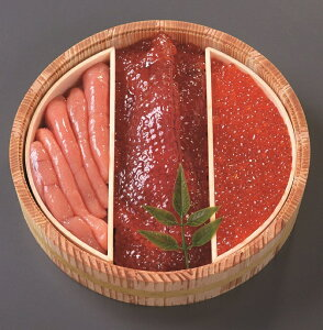 魚卵3点詰合せ-2 (カネサン佐藤水産)(stk-225-23459)| 魚卵 海産物 海の幸 いくら たらこ 明太子 筋子 食べ物 食品