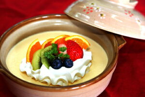 土鍋プリン (かじはらプリン)(stk-274-73448)  プリン ぷりん プディング 土鍋 食べ物 食品