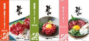 鮮 馬刺し バラエティセット3種(鮮-518)(千興ファーム) | 馬 刺身 熊本 桜 肉 お祝い ギフト 贈答 千興