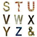 MONIQUE CHARTLAND アルファベット ボーン オブジェ ≪S〜&≫ BONE OBJECT by GOODY GRAMS 壁掛け (全27文字) ...
