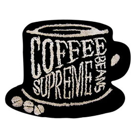 Object モチーフ フロア マット (COFFEE) 65cm×50cm 玄関マット ラグマット 【あす楽対応】