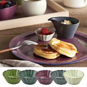 翠(SUI) 食器 美濃焼 「花豆皿」 全5色 (電子レンジ対応・食器洗浄機対応) テーブルウェア 皿 プレート 陶器 和食 洋食 和食器 グレー 紫【あす楽対応】
