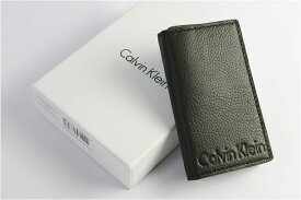 Calvin Klein カルバンクライン キーケース メンズ 本革 レザー ロゴ ブランド ブラック 型押し Men's