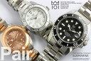 ペアウォッチ HYAKUICHI ダイバーズ サブマリン メンズ レディース 20気圧防水 腕時計 ペア