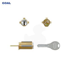 ゴール V18シリンダー MXタイプ カム卵型用 GCY-214 キー3本付【GOAL V-MX シル】【ディンプルキー】