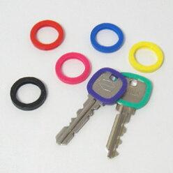 【メール便可】【スモールサイズ】KEYCOVERキーカバーキーカバーリング7色セット【鍵識別管理】【KeyIdentifiers】