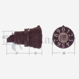 タジマ MET ダイヤル錠 PJ-24 タテ用 可変ナンバー【TAJIMA】【PJ24 (PJ-3 代替品)】
