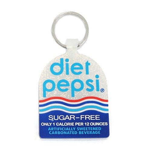 ペプシ キーホルダー クリアラメ仕様【PEPSI FCG-017 B:diet pepsi】【キーチェーン キーリング】【雑貨 アクセサリー プレゼント】
