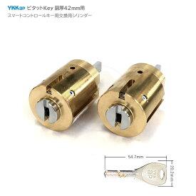 [2ロックセット] YKKap ピタットKey用 非常シリンダー 標準仕様 キー5本付【YKK ヴェナート プロント EC-Z1 EC-Z2 EC-Z6 5K-15558】【ALPHA】【2個同一】【送料無料】