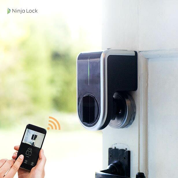 NinjaLock2 スマートロック 後付け電子錠【ライナフ Linough NL2 NL02 ニンジャロック】【スマートフォン Android iOS 対応】【Bluetooth対応(Wi-fi非対応)】【送料無料】