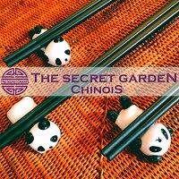 THE-SECRET-GARDENシノワズリ箸置きパンダ3パターン香香上野動物シャンシャンザ・シークレットガーデンシノワ陶磁器