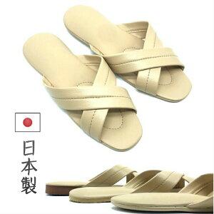 スリッパ 業務用 激安 Xバンド 日本製 レザー 滑りにくい 天然ゴム ビニール クロス 医療 トイレ 抗菌 高級人工皮革 業務用 前空き 来客用 フリーサイズ 型番:jp-606sp