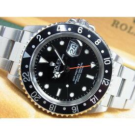 【中古】ロレックス(ROLEX)GMTマスターII Ref.16710 黒ベゼル A番