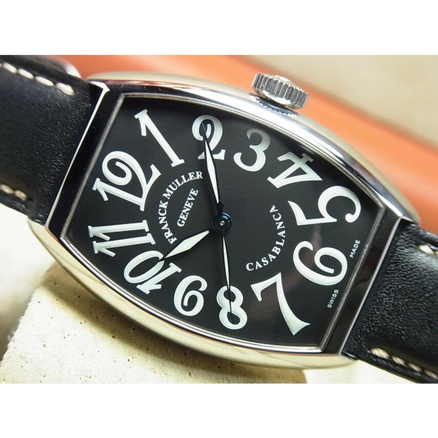 【中古】フランクミュラー(FRANK MULLER) カサブランカ ブラック 革ベルト 5850CASA