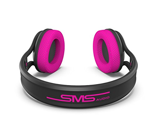 SMS Audio SMS-ONWD-SPRT-PNK ストリート by 50 On-Ear Wired スポーツ Headphones - ピンク 『海外取寄せ品』