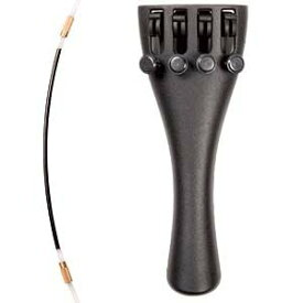 Wittner 1/2 Violin Ultra Composite Tailpiece with 4-tuners and ナイロン Tailgut (海外取寄せ品)