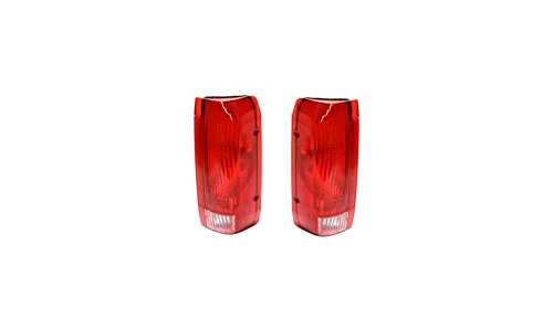 Evan-Fischer EVA15672055327 Tail Light for Ford F-Series 90-97 RH and LH インクルード レンズ and ハウジング Left Right Replaces Partslink# FO2800106, FO2801105 (海外取寄せ品)