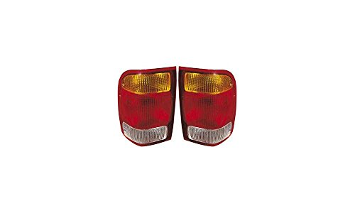 Evan-Fischer EVA15672055334 Tail Light for Ford レンジャー 98-99 RH and LH インクルード レンズ and ハウジング Left Right Replaces Partslink# FO2800121, FO2801121 (海外取寄せ品)