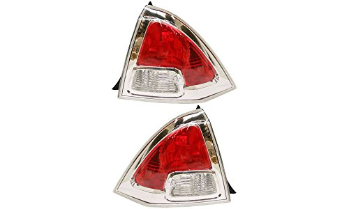 Evan-Fischer EVA15672055362 Tail Light for Ford フュージョン 06-09 RH and LH インクルード レンズ and ハウジング Left Right Replaces Partslink# FO2818123, FO2819113 (海外取寄せ品)