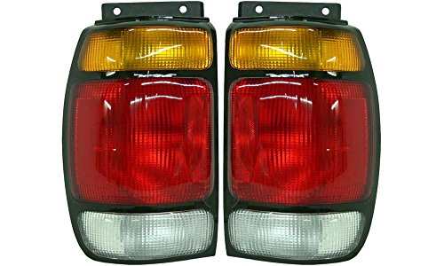 Evan-Fischer EVA15672055328 Tail Light for Ford エクスプローラー 95-97 RH and LH インクルード レンズ and ハウジング Left Right Replaces Partslink# FO2800113, FO2801113 (海外取寄せ品)
