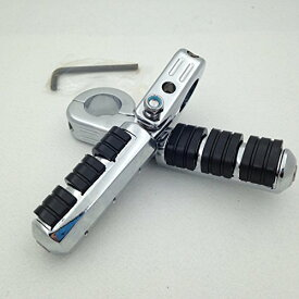 """HK グループ Motorcycle クローム Footrest Foot Pegs with 1 1/2""""(1.5"""") Clamps For ハーレーダビッドソン Harley Davidson Sportster 883 XL 1200 1340/Triumph ロケット 3 2300cc/Kawasaki Vulcan VN400 VN800 VN900 VN1500 VN2000 (海外取寄せ品)"""