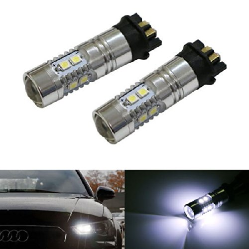 iJDMTOY (2) Xenon ホワイト Error Free PWY24W LED Bulbs For Audi A3 A4 A5 Q3 VW MK7 Golf CC Ford フュージョン フロント Turn Signal ライト, BMW F30 3 Series DRL ランプ (海外取寄せ品)