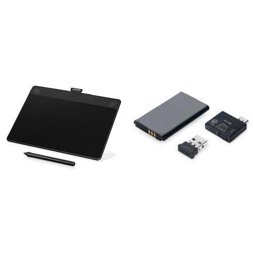 Wacom Intuos Art ペン and タッチ デジタル グラフィックス, drawing & painting tablet Medium and Wireless アクセサリー キット for Bamboo and Intuos Tablets (海外取寄せ品)
