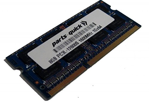 8GB Memory Upgrade for HP ENVY ノート 17t-j000 DDR3L 1600MHz PC3L-12800 SODIMM RAM (PARTS-クイック BRAND) (海外取寄せ品)