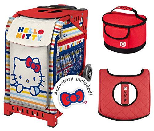 Zuca スポーツ Bag - ハローキティ Hello Kitty グッド スポーツ with ギフト Lunchbox and シート カバー (Red Frame) (海外取寄せ品)