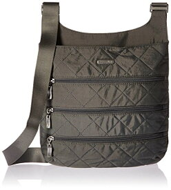 Baggallini キルト ビッグ ジッパー Bagg with Rfid, Pewterquilt 『海外取寄せ品』