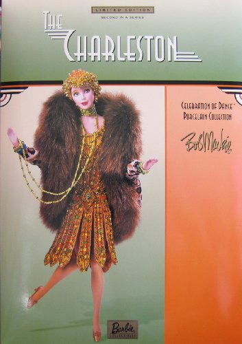 バービー Barbie The Charleston Porcelain ドール Bob Mackie 2nd in Series Celebration of ダンス リミット Edition w Shipper (2000) (海外取寄せ品)