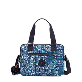 Kipling Brent プリント Double Compartment ハンドバッグ, Dzsrlngblu 『海外取寄せ品』
