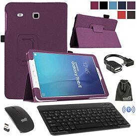 EEEKit 4in1 Office Solution キット for サムスン Galaxy Tab E 9.6 T560 フォリオ スマート スリープ/Wake ケース stand カバー,Bluttooth Wireless Keyboard,2.4G Wireless マウス, OTG ケーブル 「汎用品」(海外取寄せ品)