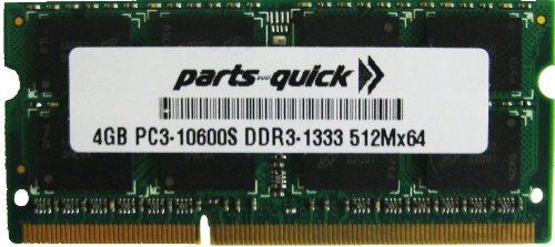 4GB Memory for レノボ ThinkPad X201 Tablet DDR3 PC3-10600 1333MHz SODIMM RAM (PARTS-クイック BRAND) (海外取寄せ品)