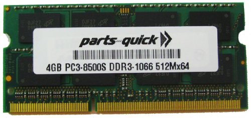 4GB Memory for Toshiba Satellite C650D-108 DDR3 PC3-8500 RAM Upgrade (PARTS-クイック BRAND) (海外取寄せ品)