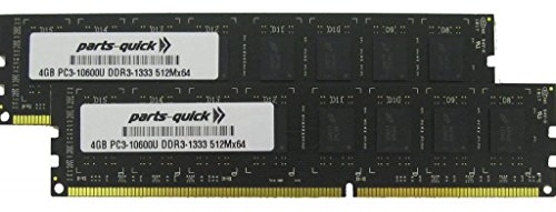 8GB (2 X 4GB) Memory Upgrade for デル Studio XPS 9000 DDR3 PC3-10600 1333MHz デスクトップ DIMM RAM (PARTS-クイック BRAND) (海外取寄せ品)