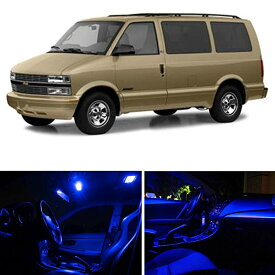 LEDpartsNow Chevy Astro 1995-2000 ブルー プレミアム LED Interior ライト Package キット (11 Pieces) (海外取寄せ品)