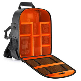 Neewer Camera ケース 防水 Shockproof 11.8x5.5x14.6 インチ/30x14x37 centimeters Camera バックパック Bag with Tripod Holder for DSLR, Mirrorless Camera, フラッシュ or Other Accessories(Orange Interior) 「汎用品」(海外取寄せ品)