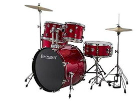"Ludwig 5 ピース Accent""Fuse"" Drum セット (Red Foil) (海外取寄せ品)"