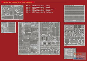 EDUBIG5326 1:200 Eduard ビッグ ED USS Missouri Part 2 PE Super セット (for the Trumpeter model kit) [MODEL キット ACCESSORY] (海外取寄せ品)