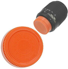 Fotodiox デザイナー (Orange) Rear レンズ キャップ Compatible with Nikon F-Mount Lenses (Non-AI, AI, AIS, AF, AFD, AFS, G, DX, FX) (海外取寄せ品)