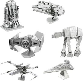fascinations メタル アース 3D Model キット スターウォーズ Star wars セット of 6 Millennium Falcon - アールツーディーツー R2-D2 - X-ウィング Starfighter - at-at - Darth Vader's ネクタイ Fighter - Imperial Star デストロイヤー (海外取寄せ品)