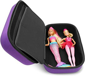 KIDCASE トラベル キッズ ドール ケース Compatible with Up to 3 バービー Barbie ドール and ドール Accessories Aprice , Janyun Barwa ファッション , Dongguo Clothes and More, パープル サル ケース オンリー (海外取寄せ品)