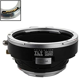 Fotodiox プロ TLT ROKR - Tilt/Shift レンズ Mount Adapter Compatible with for Pentax 6x7 (P67, PK67) Mount SLR レンズ to キャノン Canon EOS (EF, EF-S) Mount D/SLR Camera Body - with Gen10 フォーカス Confirmation チップ (海外取寄せ品)