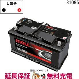 キャッシュレス5%還元 81095 自動車 バッテリー モル 交換 MOLL 欧州車 AGM アイドリングストップ