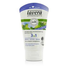 【月間優良ショップ受賞】Lavera Organic Mint 3 In 1 Wash, Scrub, Mask ラヴェーラ オーガニック ミント 3 イン 1 ウォッシュ, スクラブ, マスク 125ml/4.1oz 【楽天海外直送】