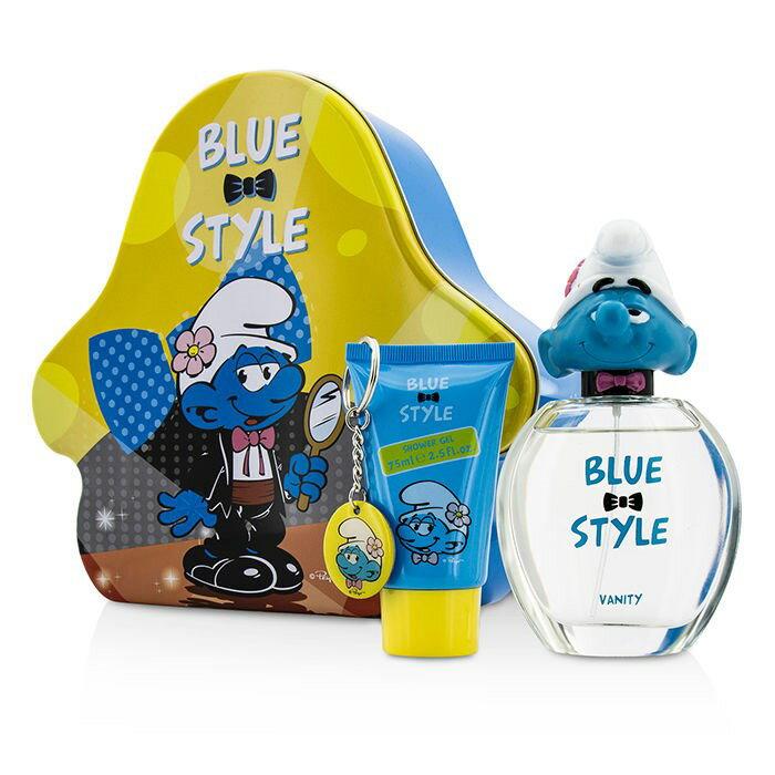 The SmurfsVanity Coffret: Eau De Toilette Spray 100ml/3.4oz + Shower Gel 75ml/2.5oz + Key Chainスマーフバニティ コフレ: 【楽天海外直送】