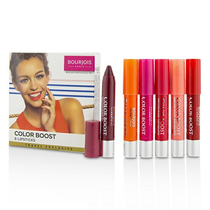 BourjoisColorboost Glossy Finish Lipstick SetブルジョワColorboost Glossy Finish Lipstick Set 6pcs【楽天海外直送】