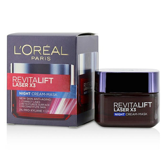 L'OrealRevitalift Laser x3 New Skin Anti-Aging Night Cream-MaskロレアルRevitalift Laser x3 New Skin Anti-Aging Ni【楽天海外直送】