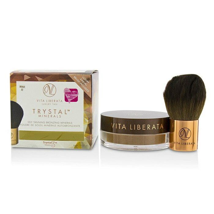 Vita LiberataTrystal Minerals Self Tanning Bronzing Minerals With Kabuki Brush - # 02 Bronzeヴィタ リベラ—タTrystal 【楽天海外直送】